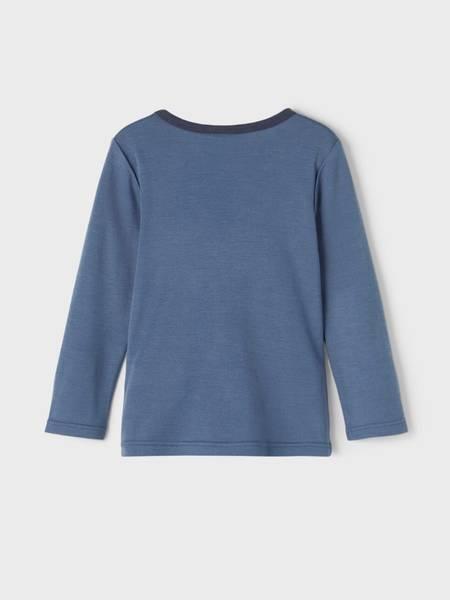 Bilde av NmmWillit wool ls top - China Blue