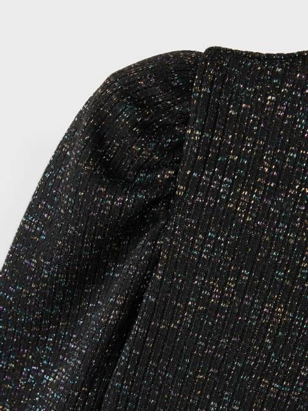 Bilde av NkfRekim ls top - Black/Multi Glitter