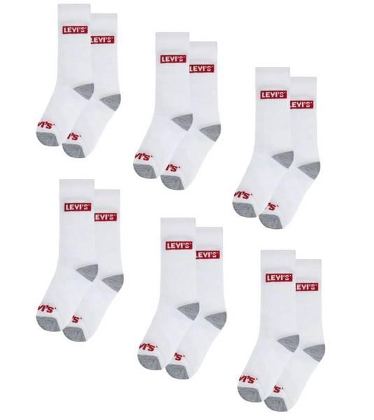 Bilde av Levis 6pk sokker - Hvit