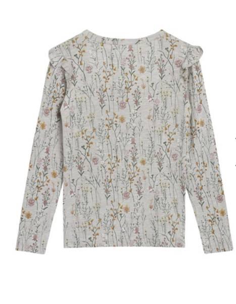 Bilde av Aura bambus skjorte blomster - Wheat Melange