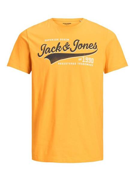 Bilde av JjeLogo Tee ss O-neck jr - Golden Orange